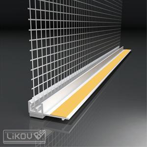 PVC deformacinis profilis su tinkleliu, 2,4m