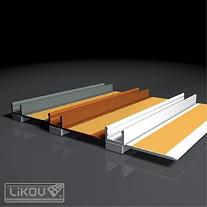 PVC deformacinis profilis, 2,4m