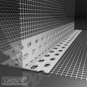 PVC universalus kampas su tinkleliu 1m