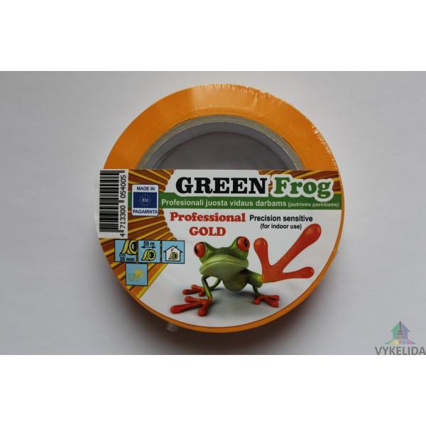 GreenFrog Maskingtape Juosta dažytojų Gold Professional 30mm/50m
