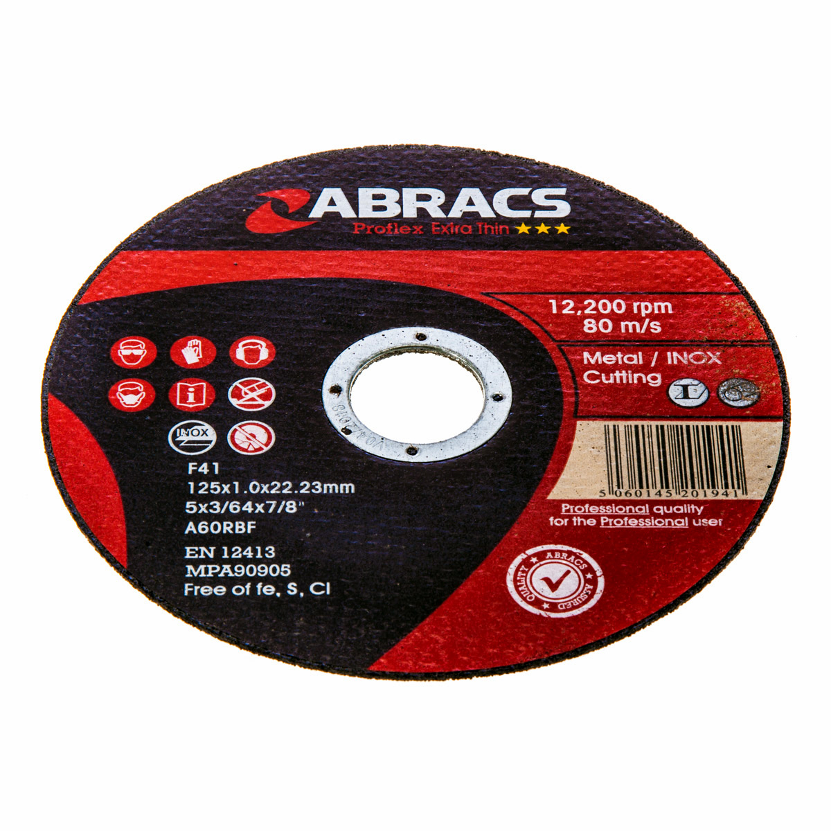 Abracs diskas metalo atpjovimui 125x1x22.23mm ProFlex Abracs