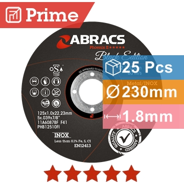 Abracs diskas metalo atpjovimui 230x1.8x22.23mm Black Edition Abracs