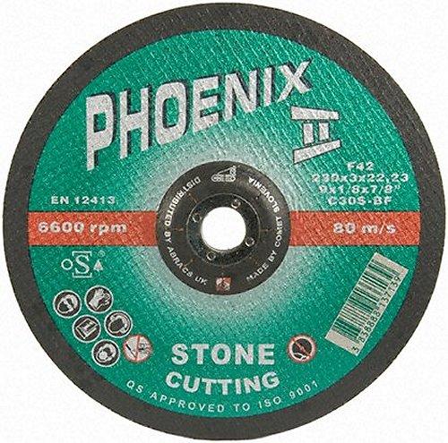 Abracs diskas akmens pjovimui 230x3x22.23mm Abracs PHOENIX II
