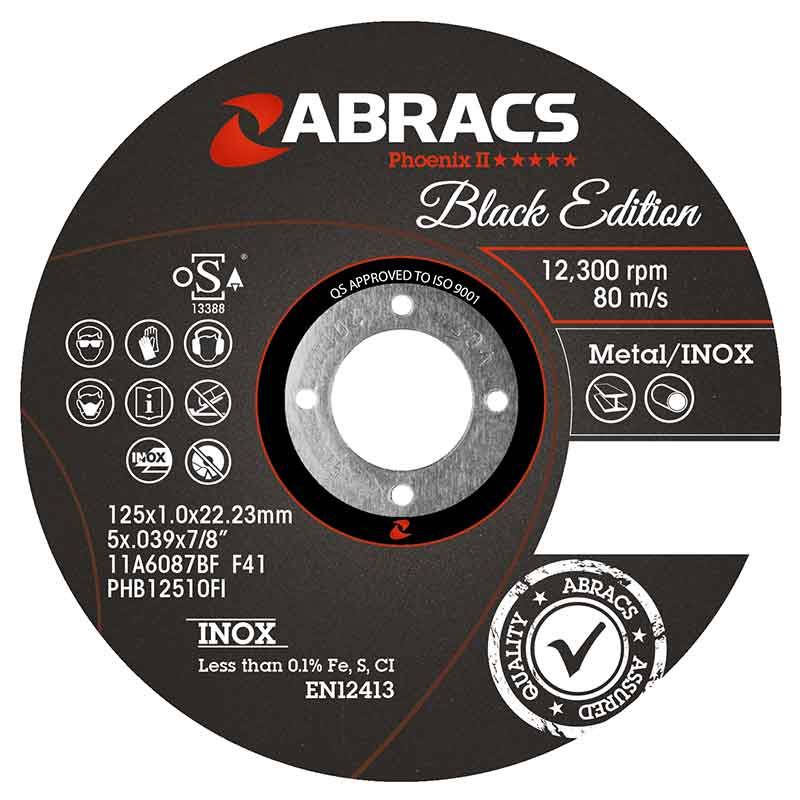 Abracs diskas metalo atpjovimui 125x1x22mm Black Edition Abracs
