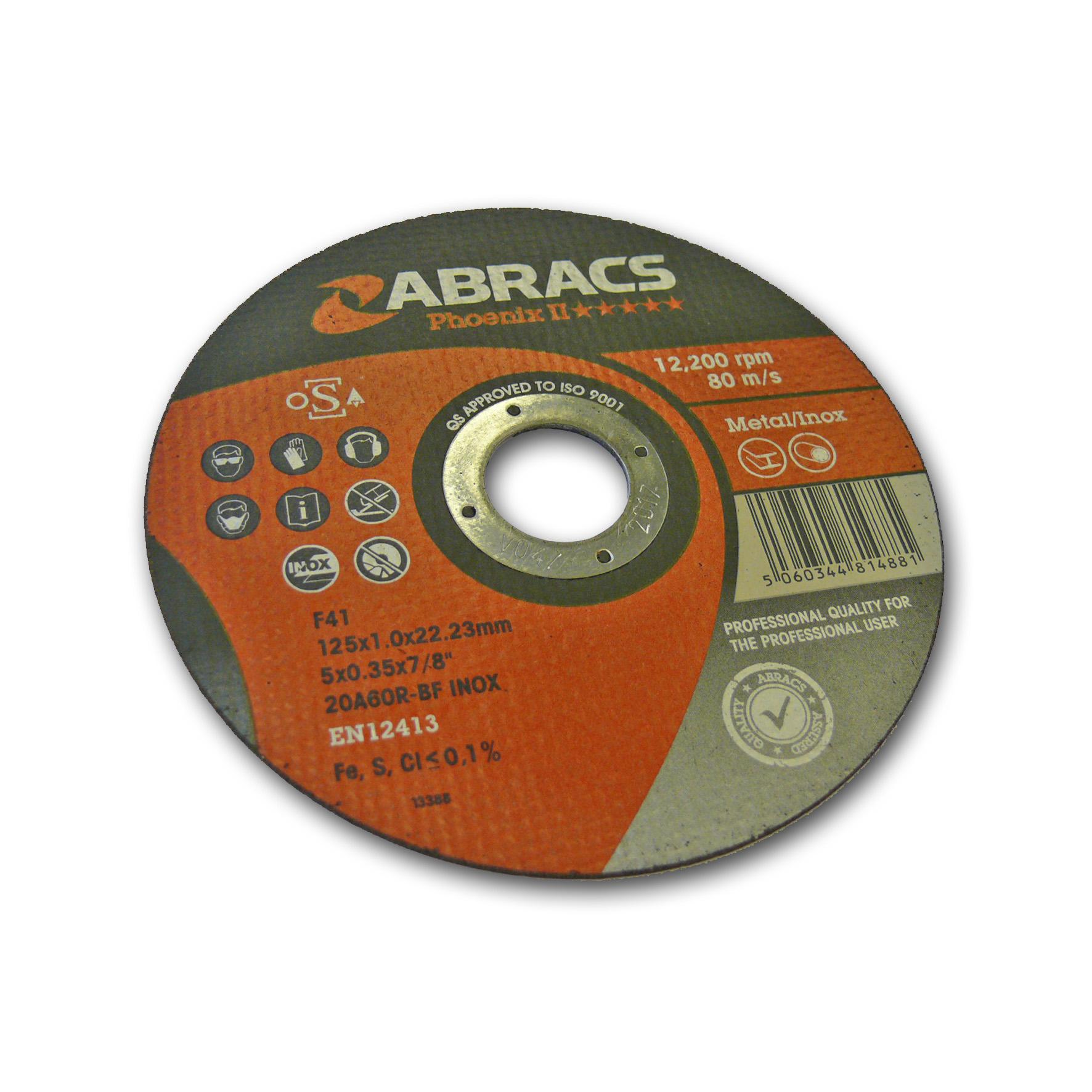 Abracs diskas metalo atpjovimui 125x1.0x22.23mm Phoenix II Abracs