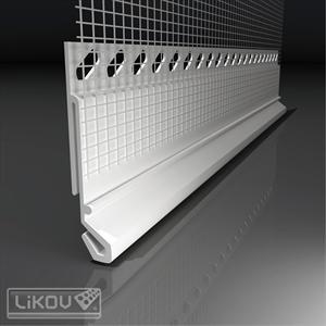 PVC profilis sujungimui su skarda 2m.