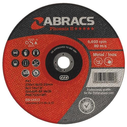 Abracs diskas metalo atpjovimui 230x1.8x22.23mm Phoenix II Abracs