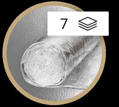 Multirefleksinė daugiasluoksnė izoliacijos instaliacija Thermic 7