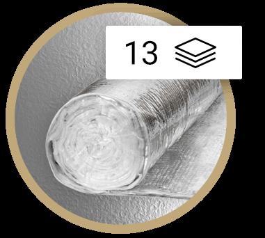 Multirefleksinė daugiasluoksnė izoliacijos instaliacija Thermic 13