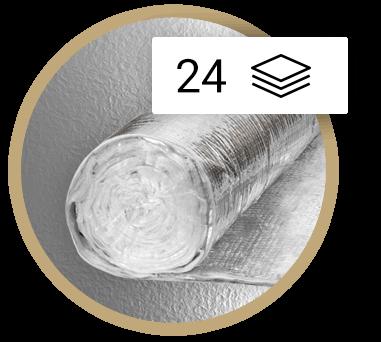 Multirefleksinė daugiasluoksnė izoliacijos instaliacija Thermic 24